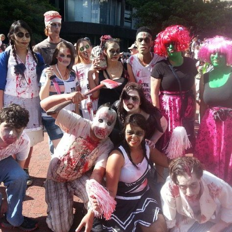 zombie walk group