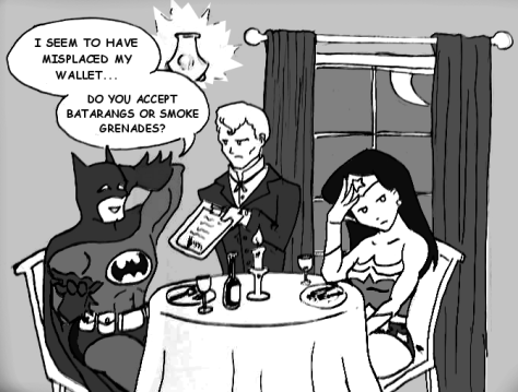wonder woman on a date
