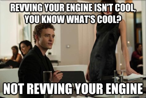 revving engine